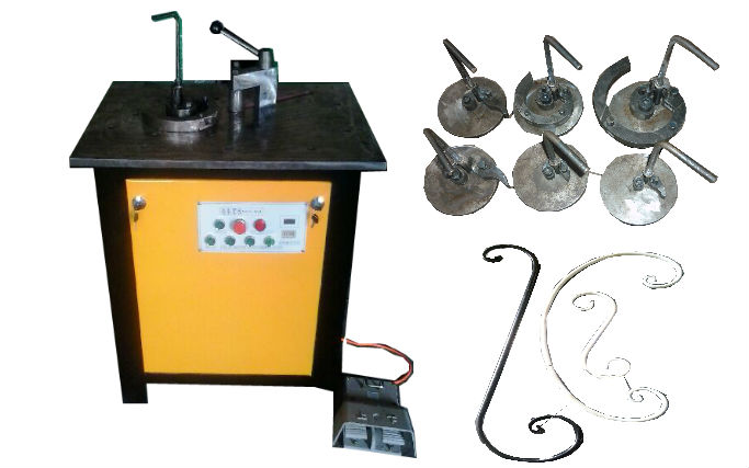 Electric Scroll Bending Machine Wrought iron machine