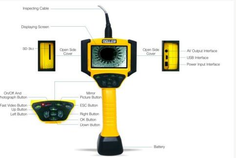 Flexible Videoscope with 4-way 4.3'' LCD
