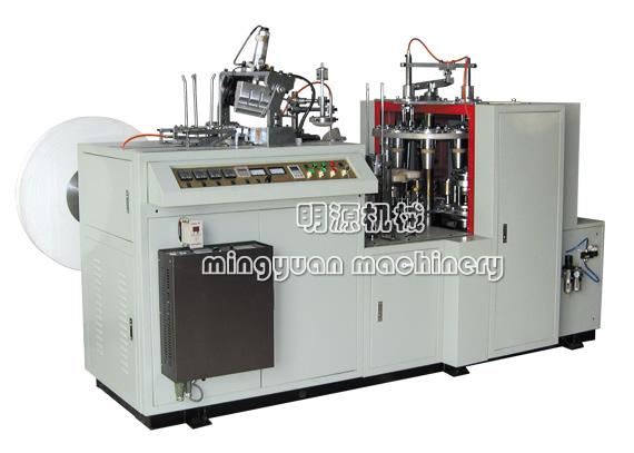 Машина для бумажного стакана с полимерными пленками на двух сторонах JBZ-D12