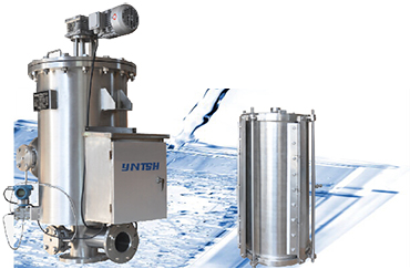 Outer-scraper automatic self cleaning filter