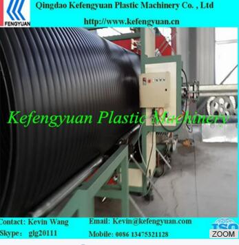 HDPE hollow wall winding pipe machine
