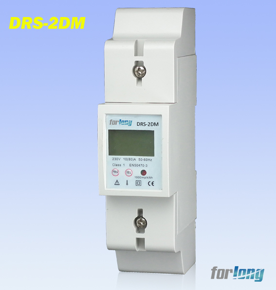 Single Phase Two Wires Din Rail Energy Meter With MODBUS Protocol DRS-2DM
