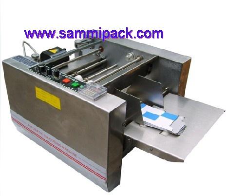 Машина печатания кода по сухому штампу