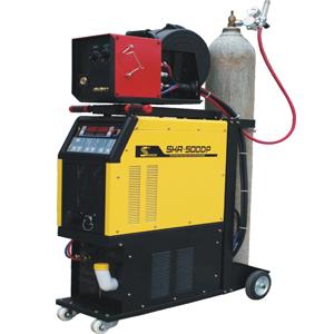 Máquina de soldar multifuncional con gas de protección de pulsado doble, digital