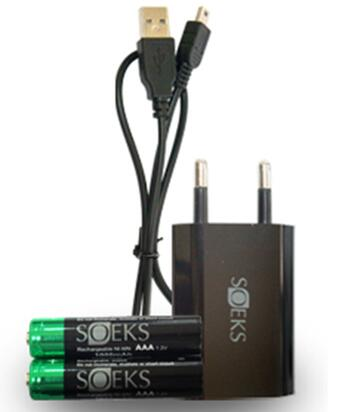 Rechargeable Batteries Cable Adapter (US Version) CHARGING KIT