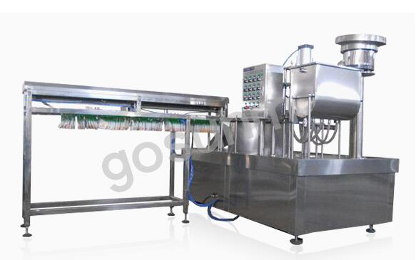 Self support bag filling capping machine GSQ-Z-ZLDGXQ-4A01