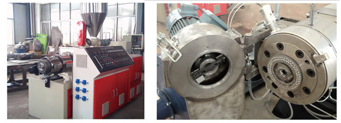 Extruding hot die face granulating line for PVC