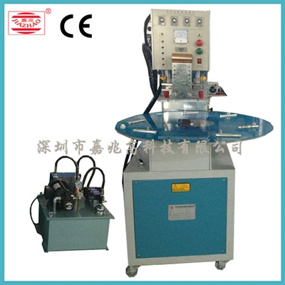Single head round table hydraulic welding machine