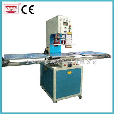 Single head sliding table 2 work-station high frequency plastic welding machine