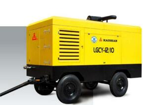 Diesel Engine Portable Screw Air Compressor