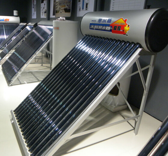 Compact non-pressurized solar water heater with tri-element tube