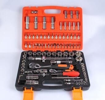 China Industrial Grade 94pcs Mirror Metric Cr-V 1/4'' 1/2''Dr Machinery Tool