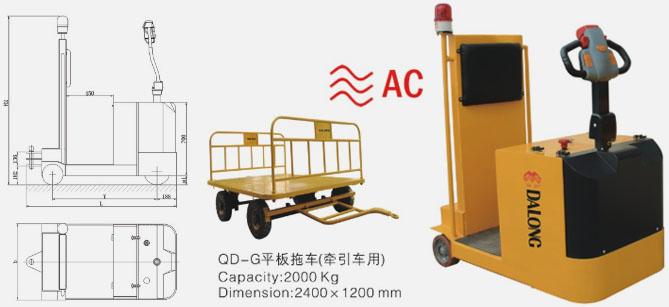 Автомобиль электрической тяги типа стоячего управления машиной серии QD