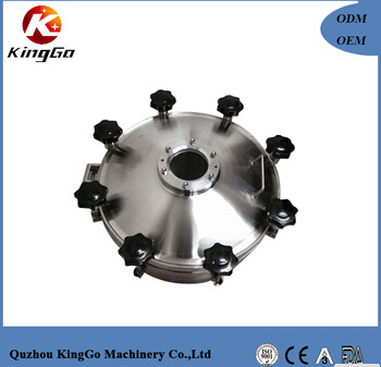 Stainless steel sanitary tank dust proof manway cover