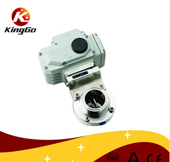 Stainless steel sanitary electric butterfly valve