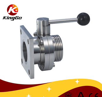 Sanitary Thread & Square Flange Butterfly Valve