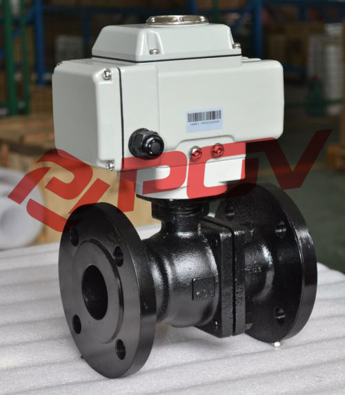 WCB flange electric ball valve