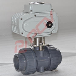 Plastic upvc electric ball valve