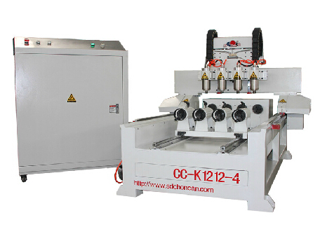 3D Cylinder working CNC Router with 4 Rotories--CC-K1212-4