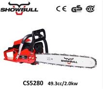 Chinese top gas chain saw with 50CC machine for wood cutting
