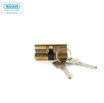 Xuchuan Transparent Cutaway Cylinder Two Sides Padlock Locksmith Practice Tools