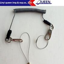 Spring lanyard with steel hook from China