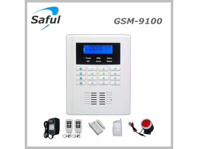 Saful GSM-9100 GSM & PSTN Security Alarm System Display
