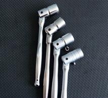 flexible head chrome spanner/ratchet socket spanner combination wrench