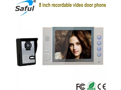 Saful TS-YP815 8 inch Color Video Door Phone with recording function