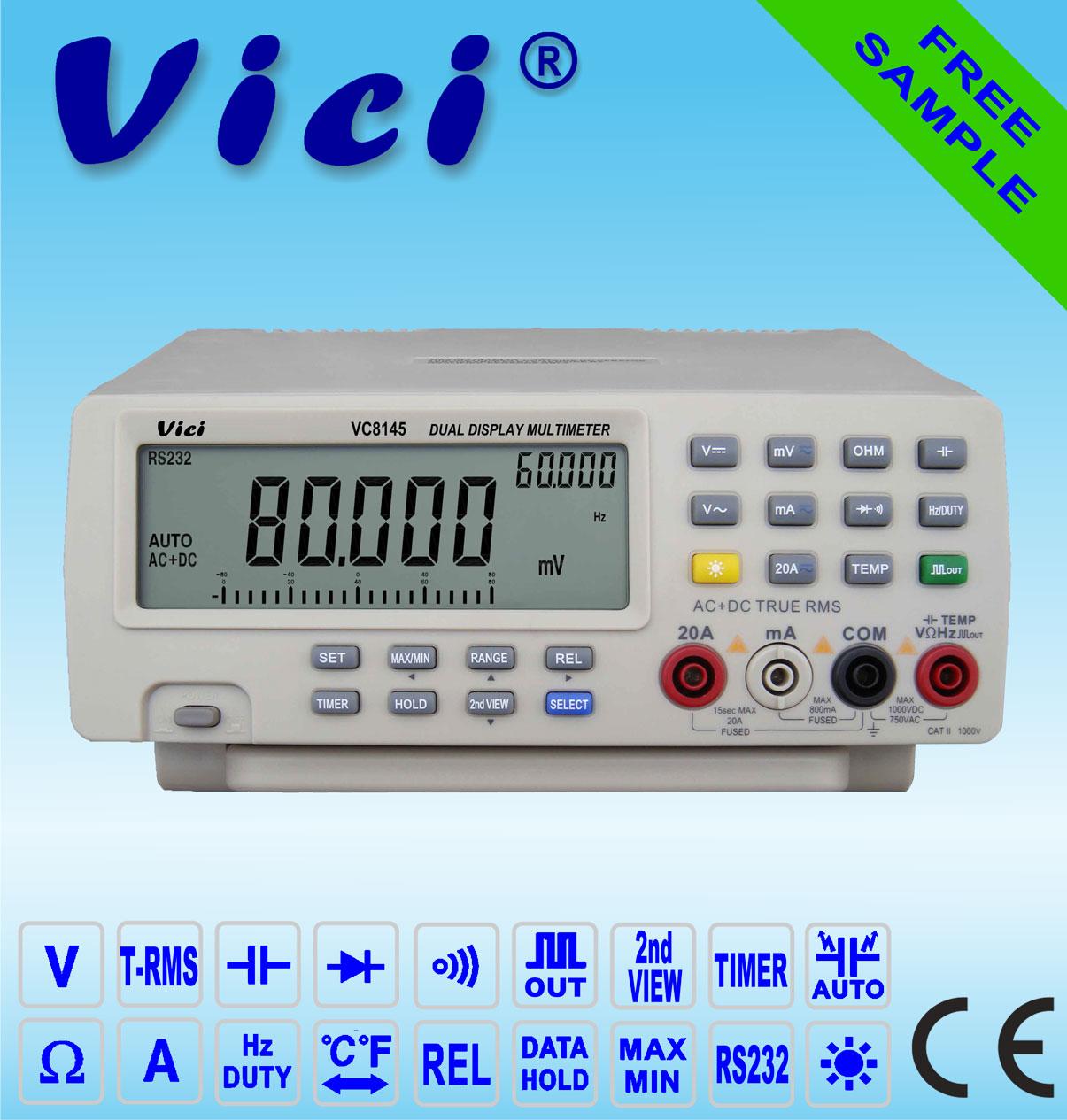 VC8145  4 7/8 Auto Range Bench-Type DMM