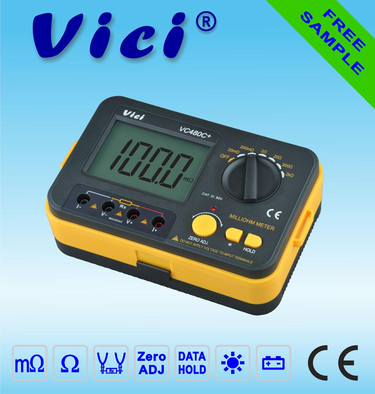 VC480C+   3 1/2 Digital Milli-ohm Meter