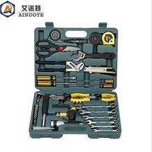 52 pieces household hand tool set with durable plastic box