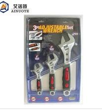3 pcs adjustable wrentch set with Blister Package