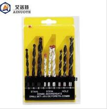 Drill sets for drilling iron wall wood