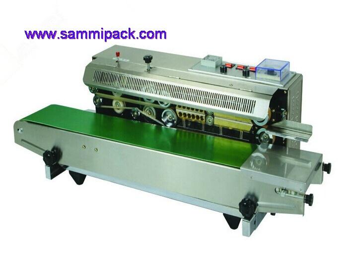 Máquina sellladora con impresión por tambor de tinta