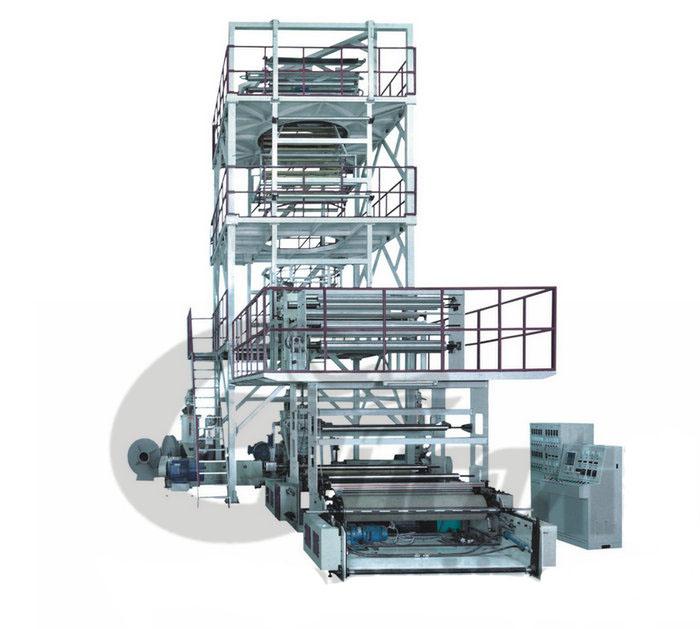 Машина пластического дуновения для упаковочной пленки с многослойным выдавливанием серии MSJ-GS