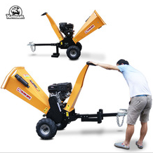 Trailer mounted mobile towable wood chips machine