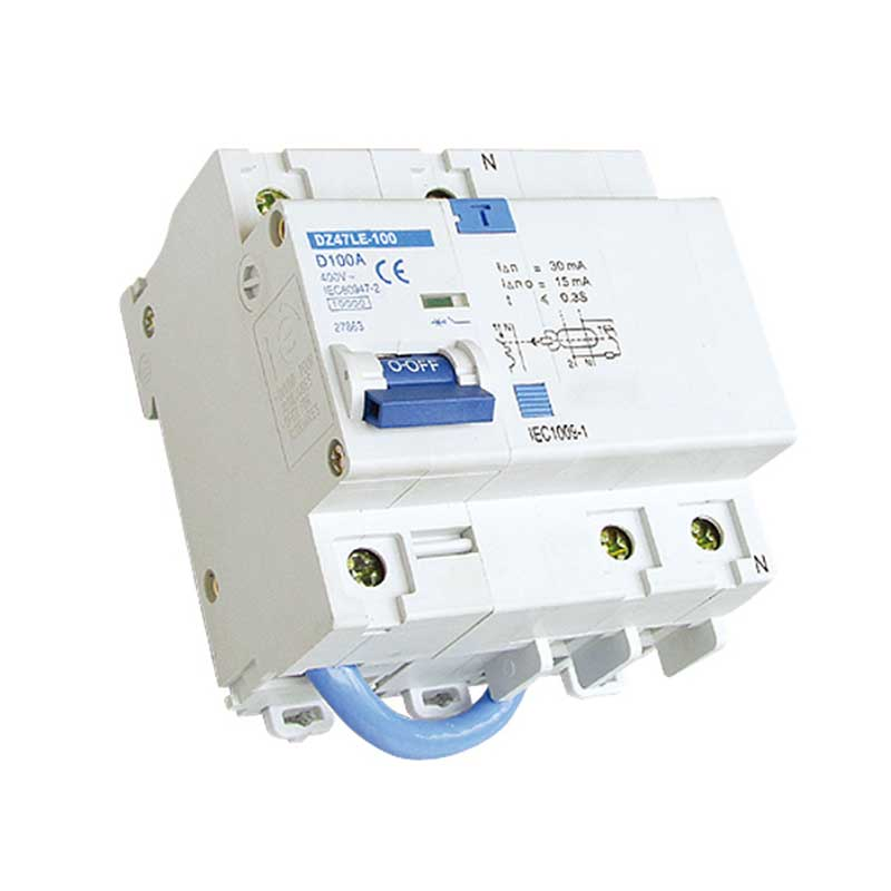 Dz47le 100 residual current operated circuit breaker with for Motor operated circuit breaker