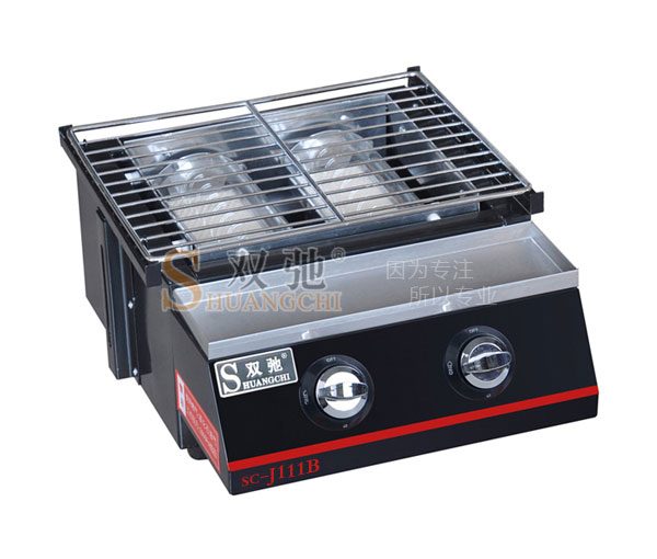 Double spraying Glass BBQ Grill SC-J111B