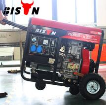 BISON China Taizhou Air Cooled 5KVA Open Single Piston Diesel Generator