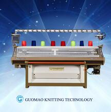automatic computerized flat knitting machine for knitting jacquard sweater