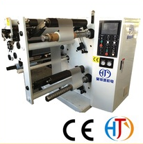 Adhesive sanitary napkin tape slitting rewinding machine