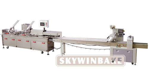 HY-AL ONE ROW (2+1) BISCUIT SANDWICHING CONNECTED PACKING MACHINE
