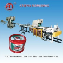 Automatic CNC Deep Throat Punching Making Production Line for Two Piece Can with 2 Process