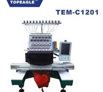 TOPEAGLE TEM-C1201 Computerized Single Head 12 Needle Cap Embroidery Machine
