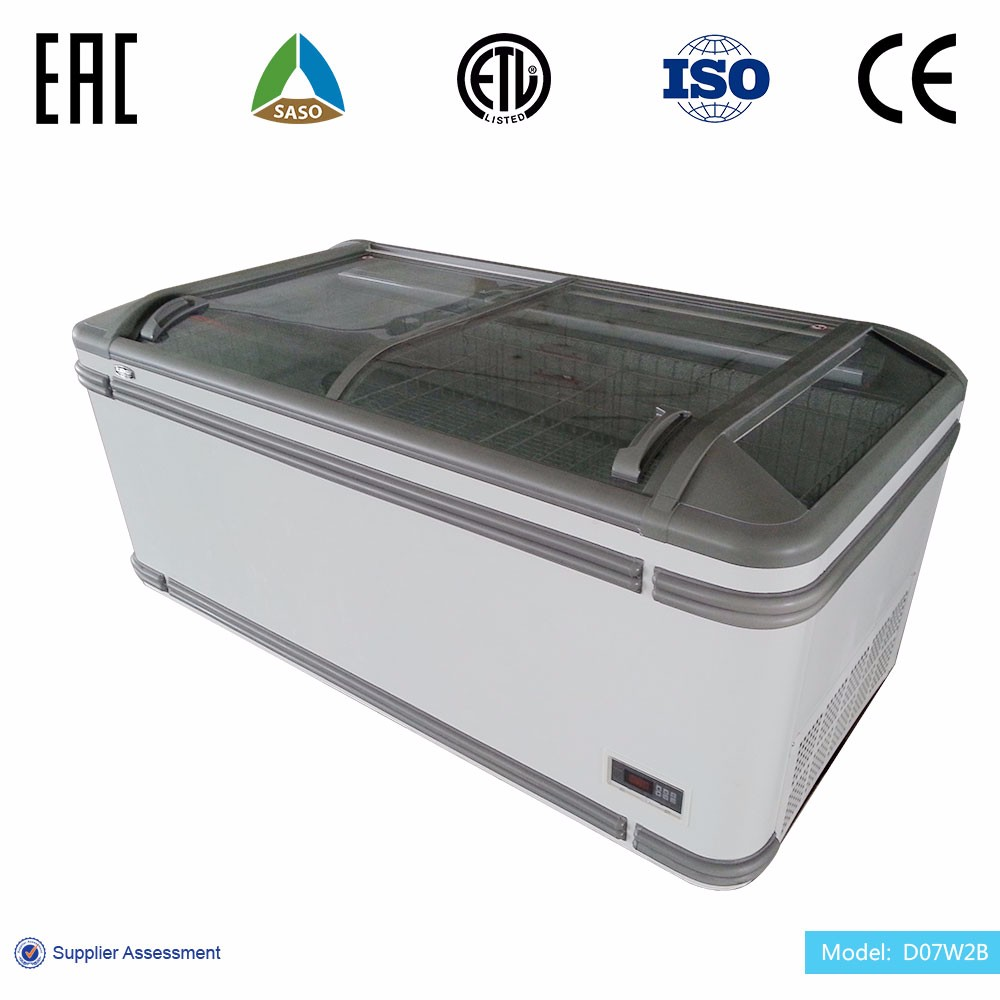 Anti-fog envergy saving commercial island display chest freezer