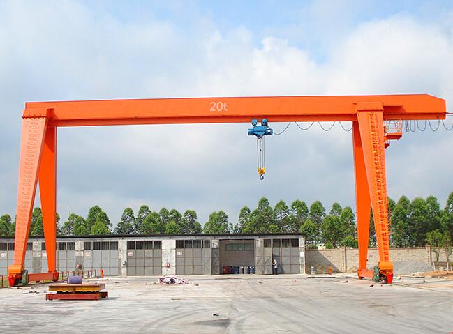 MH model single girder overhead gantry cranes