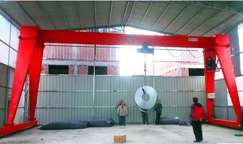 MH model single girder mobile gantry cranes