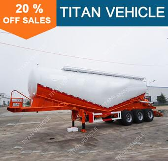 Titan 45m3 3 Axles Bulk Powder Tanker Trailer , V Shaped Cement Silo Trailer For Sale