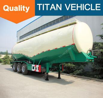 Titan 60T Bulk Cement Trailer For Transport Bulk Powder , China Bulk Cement Semi Trailer